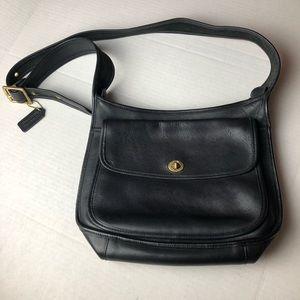 Coach Vintage Saddle Crossbody Bag Black